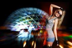 Young beautiful woman dancing Royalty Free Stock Photography