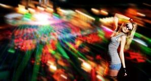 Young beautiful woman dancing Stock Images
