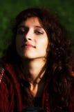 Young beautiful woman at a dawn. Royalty Free Stock Image
