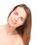 Young beautiful woman demonstrate her perfect skin Royalty Free Stock Image