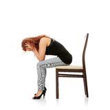 Young beautiful woman with depression Stock Images