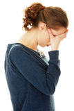 Young beautiful woman in depression. Royalty Free Stock Photography