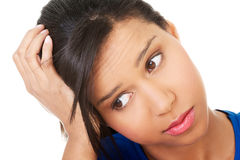 Young beautiful woman in depression. Stock Photography
