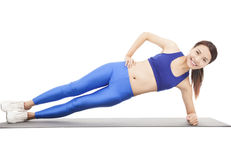 Young beautiful woman doing core workou Stock Image