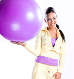 Young beautiful woman doing fitness royalty free stock photo
