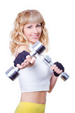 Young beautiful woman doing fitness exercise Royalty Free Stock Image