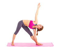 Young beautiful woman doing yoga. Stock Images