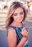 Young, beautiful woman, dreams Royalty Free Stock Photos