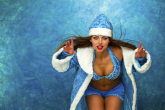 Free Young Beautiful Woman Dressed As Russian Snow Maiden Stock Photography - 58620682