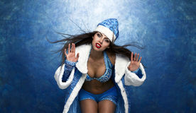 Young beautiful woman dressed as Russian Snow Maiden Royalty Free Stock Photography
