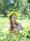 Young beautiful woman  in the early spring Royalty Free Stock Photo
