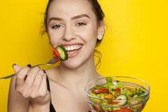 Healthy food - salads Stock Images