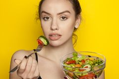 Healthy food - salads Royalty Free Stock Photo