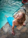 Young Beautiful Woman Enjoying Summer Vacation In Luxury Hotel P Stock Photo