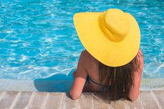 Young beautiful woman enjoying vacation in the Royalty Free Stock Photography