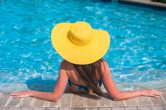 Young beautiful woman enjoying vacation in the Royalty Free Stock Images