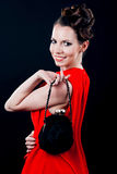 Young beautiful woman in evening gown Royalty Free Stock Photo