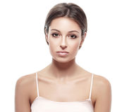 Young beautiful woman face portrait with healthy skin Stock Image