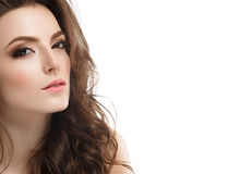 Young beautiful woman face portrait with healthy skin Royalty Free Stock Photo