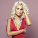 Young beautiful woman fashion portrait royalty free stock image
