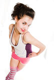 Young beautiful woman in fitness Stock Photography