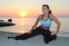 Young beautiful woman during fitness Stock Image