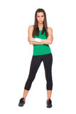 Young beautiful woman in fitness outfit Royalty Free Stock Photography