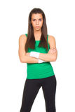 Young beautiful woman in fitness posing Stock Image