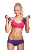 Young beautiful woman in fitness wear Royalty Free Stock Photography