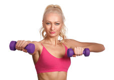 Young beautiful woman in fitness wear Stock Image