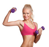 Young beautiful woman in fitness wear Royalty Free Stock Images
