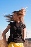 Young beautiful woman flapping her hair Royalty Free Stock Image