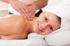 Young beautiful woman getting spa treatment Stock Image