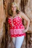 Young beautiful woman girl in mountain Royalty Free Stock Photo