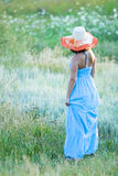 Young beautiful woman with hat Royalty Free Stock Photos