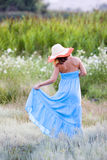 Young beautiful woman with hat Stock Photo