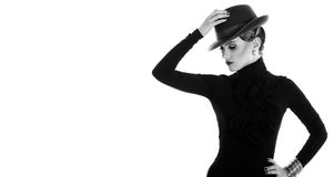 Young and beautiful woman in hat Royalty Free Stock Photos