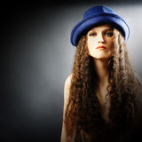 Young beautiful woman in hat Stock Photo