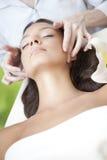 Young Beautiful Woman Having Facial Massage Stock Photos