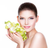 Young beautiful woman with a healthy clean skin. Royalty Free Stock Image