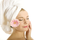Young beautiful woman with healthy skin Stock Photos