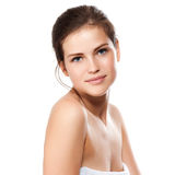 Young beautiful woman with healthy skin. Portrait of young beautiful woman with perfect skin Stock Images