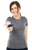 Young beautiful woman holding car keys Royalty Free Stock Photo