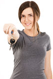 Young beautiful woman holding car keys Royalty Free Stock Image