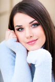 Young beautiful woman at home Royalty Free Stock Photos