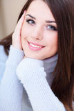 Young beautiful woman at home Royalty Free Stock Photography