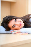 Young beautiful woman at home Royalty Free Stock Images