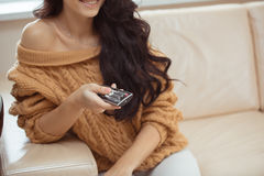 Young beautiful woman at home Stock Photography