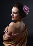 Young Beautiful Woman In Kimono Stock Photo