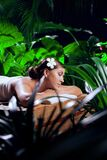 Young Beautiful Woman In Spa Environment. Stock Photo